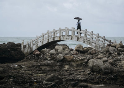Most na pobřeží Taiwanu