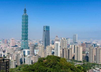 Výhled na město Taipei ze Sloní hory (Elephant Hill)