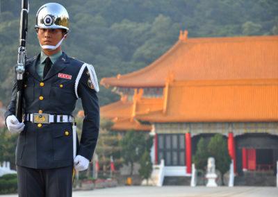 Střídání stráží u Taipei Martyrs' Shrine na ostrově Taiwan