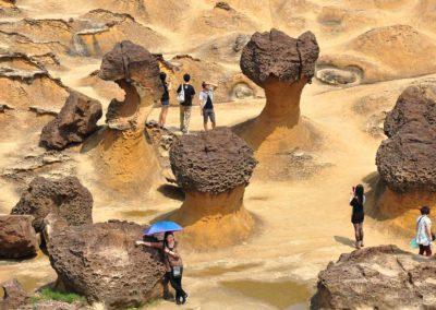 Pískovcové útesy Yehliu na severu Taiwanu