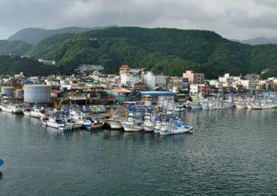 Rybářský přístav Nanfangao na východě Taiwanu