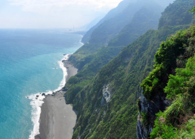 Výlet na kole podél východního pobřeží Tichého oceánu na ostrově Taiwan