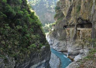 Řeka Liwu protéká soutěskou Taroko na Tchajwanu