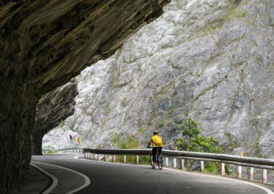 Výlet na kole do soutěsky Taroko na Taiwanu