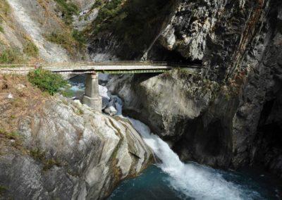 Vodopád v soutěsce Taroko na ostrově Tchaj-wan