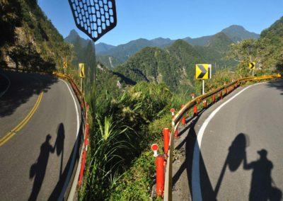 Horská silnice v národním parku Taroko na ostrově Taiwan