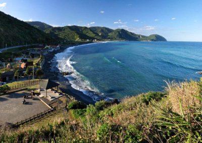 Pláž Jiqi na východním pobřeží ostrova Taiwan