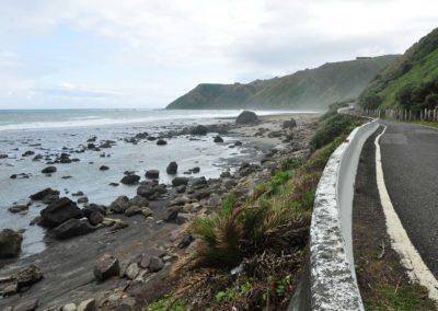 Liduprázdné pobřeží Alangyi na jihovýchodě Tchaj-wanu