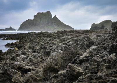 mořské útesy na Taiwanu