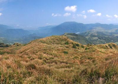 Panorama národního parku Yangmingshan nad Taipei