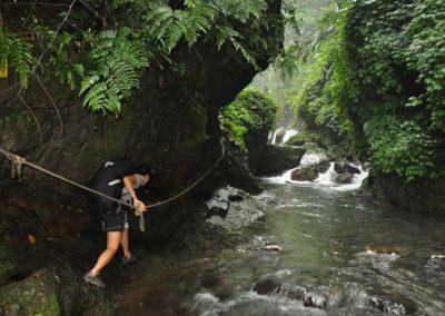 River tracing k vodopádu Youmeikeng poblíž města Jiaoxi