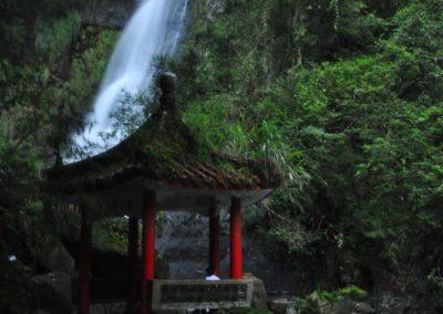 Vodopády Wufenqi poblíž města Jiaoxi na Tchaj-wanu