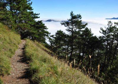 Stezka na druhou nejvyšší horu ostrova Taiwan
