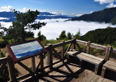 Odpočívadlo v národním parku Sheipa na ostrově Taiwan
