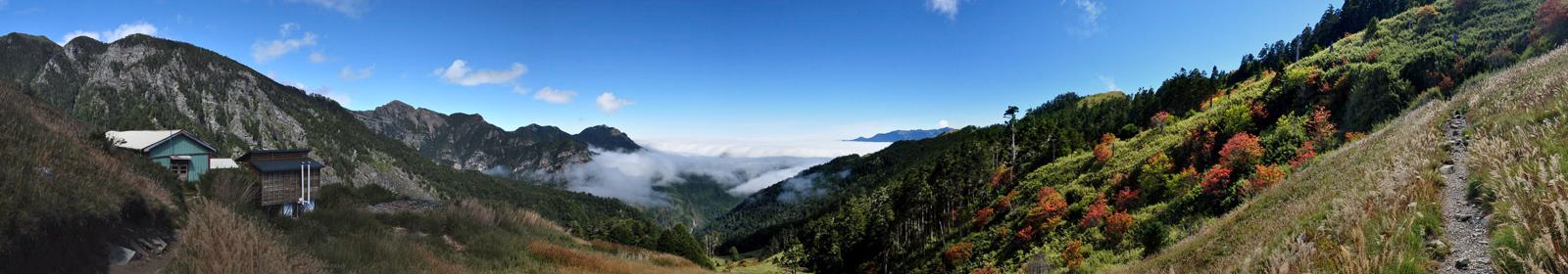 Panorama národního parku Sheipa na ostrově Taiwan