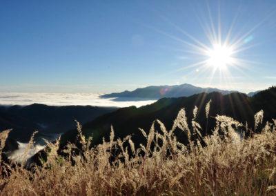 Vysoké hory v národním parku Sheipa na Taiwanu