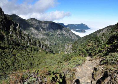 Hřeben Holy Ridge v národním parku Sheipa na Taiwanu