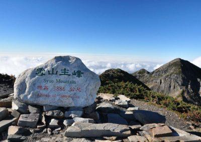 Vrchol hory Xueshan na ostrově Taiwan