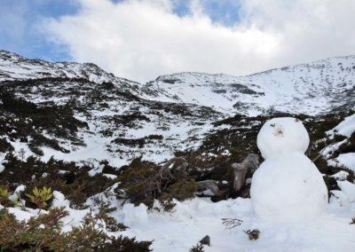Sníh na hoře Xueshan na Taiwanu