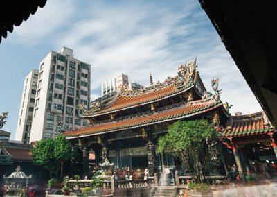 Taoistický chrám Longshan v Taipei