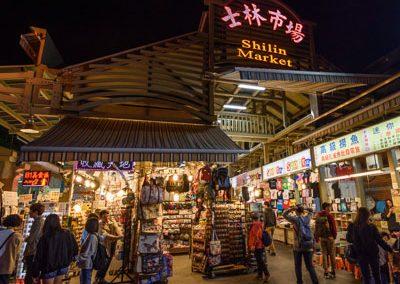Noční trh Shilin v Taipei