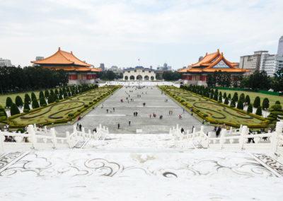 Náměstí Svobody a Národní divadlo a koncertní hala v Taipei na ostrově Taiwan