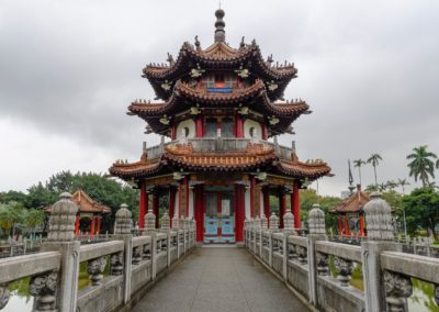 Pagoda v 2-28 Park v centru Tchaj-pej na ostrově Tchaj-wan