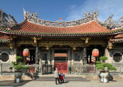 Chrám dračí hory (Longshan Temple), nejstarší taoistický chrám v Taipei