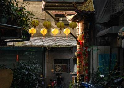 Úzké a zapadlé uličky hlavního města Taiwanu