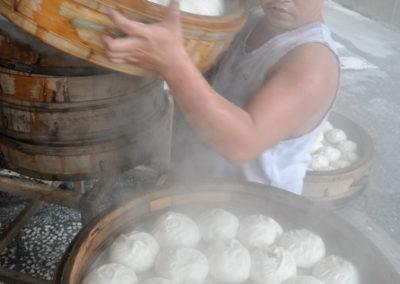 Restaurace prodávající čínské knedlíčky v Tchaj-pej