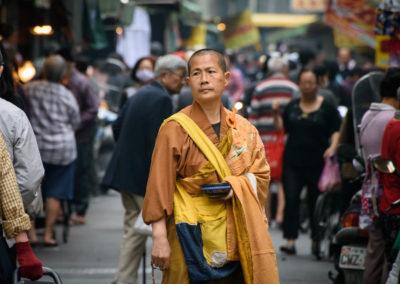 Buddhistický mnich na Tchaj-wanu