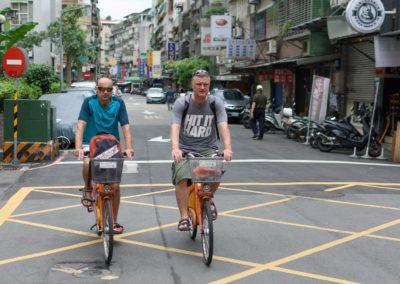 Jízda na kolech YouBike v Taipei