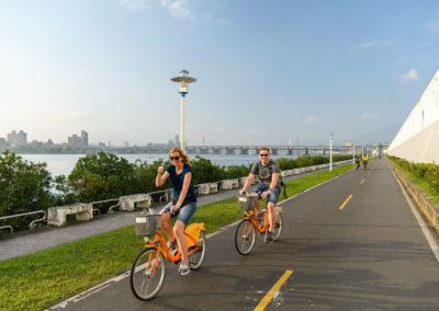 Nejlepší cyklostezky podél řeky Danshui v Taipei