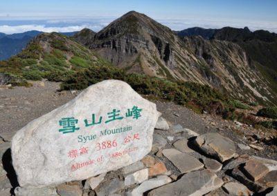 Vrchol hory Syueshan na ostrově Tchaj-wan