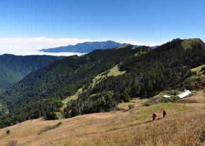 Vysokohorská turistika v národním parku Sheipa na Taiwanu