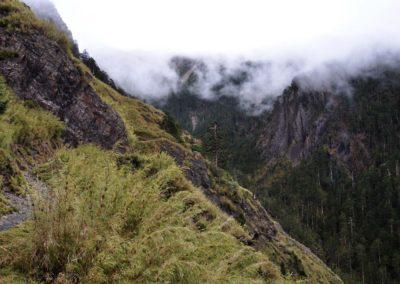 Stezka na nejvyšší horu Taiwanu v národním parku Yushan