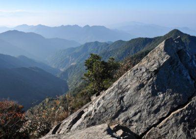 Horská turistika v okrese Taichung na Taiwanu