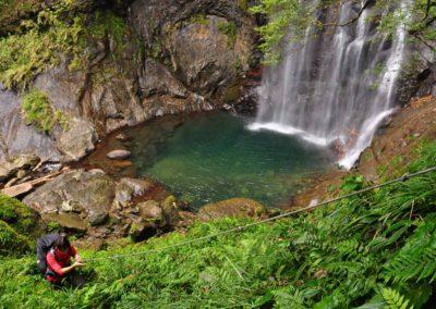 Vodopád v horách severního Taiwanu