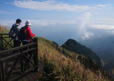 Výhledy z kopců severního pobřeží Taiwanu
