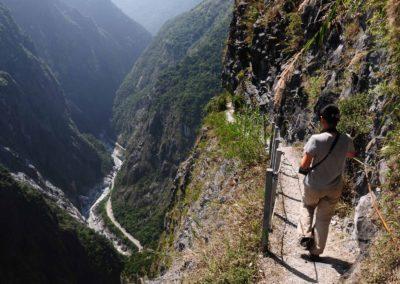 Adrenalinová horská stezka Zhuilu Old Trail v národním parku Taroko