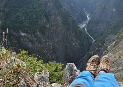 Výhledy ze stezky Jhuilu Old Trail v NP Taroko