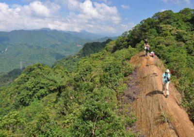 Turistika na hoře Huangdidian na okraji Taipei