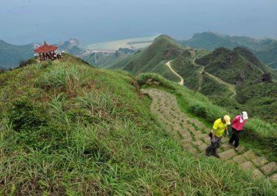 Výstup na horu Teapot Mountain na pobřeží Taiwanu