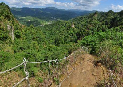 Skalní útesy Pingxi Crags na okraji Tchaj-pej