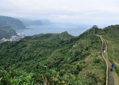 Stezka na mys Bitou na severním pobřeží Taiwanu