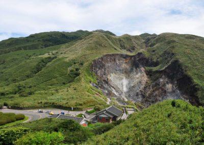 Vulkanická činnost v NP Yangmingshan na okraji Taipei