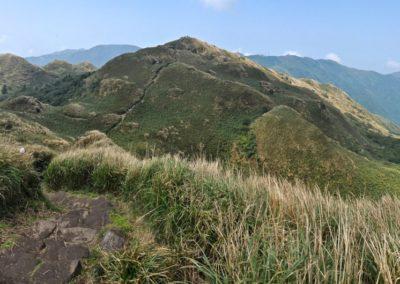 Výstup na horu Qixingshan v NP Yangmingshan