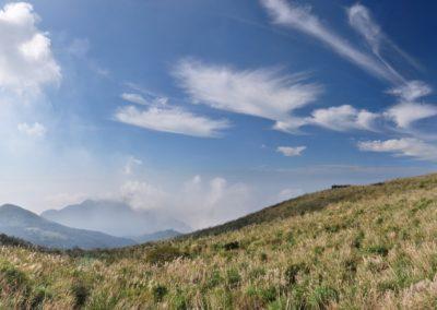 Panorama národního parku Yangmingshan