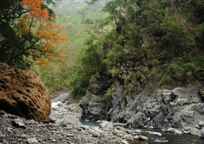 Horská řeka na ostrově Taiwan