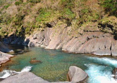 Horská říčka Taigang v pohoří Lalashan